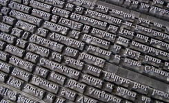 Afbeelding: onleesbare letters