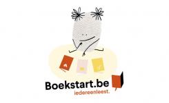 Tekening: baby leest boek
